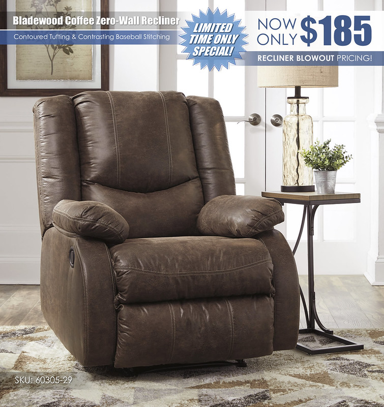 Bladewood Coffee Zero Wall Recliner Special_60305-29