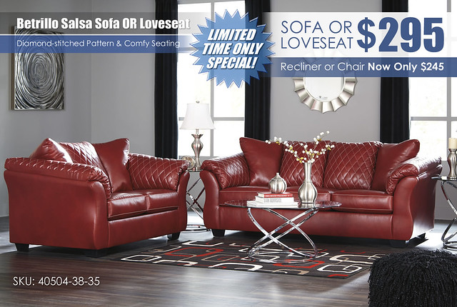 Betrillo Salsa Sofa OR Loveseat Special_40504-38-35-T270
