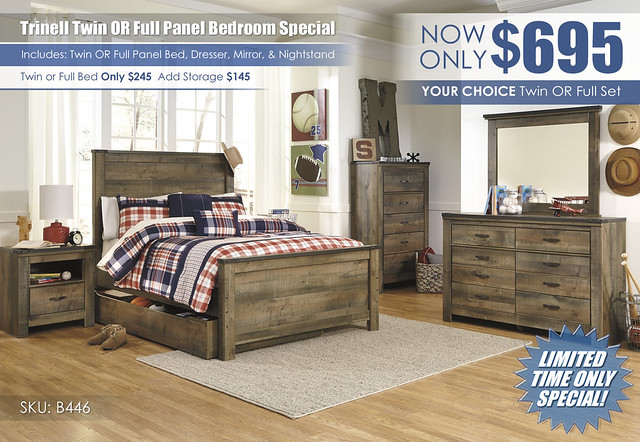 Trinell Twin OR Full Panel Bedroom Special_B446