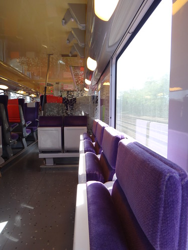 Interior of car of SNCF Intercity