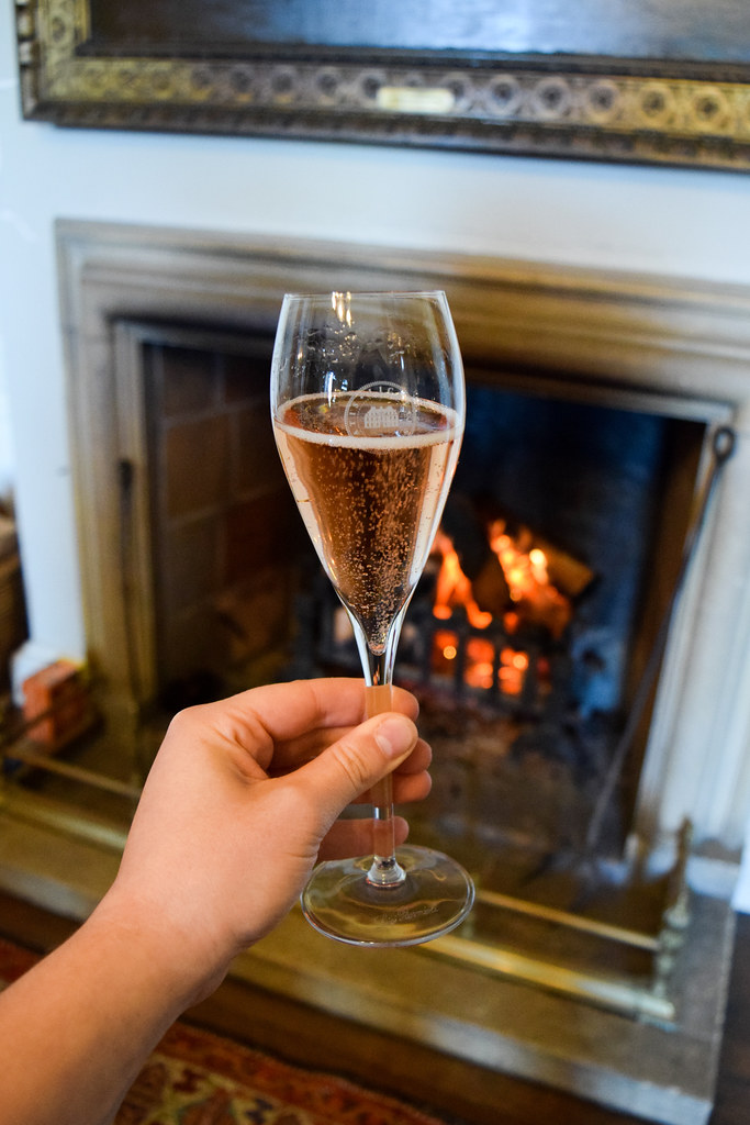Pink Sparkling Wine at Squerryes Vineyard and Winery