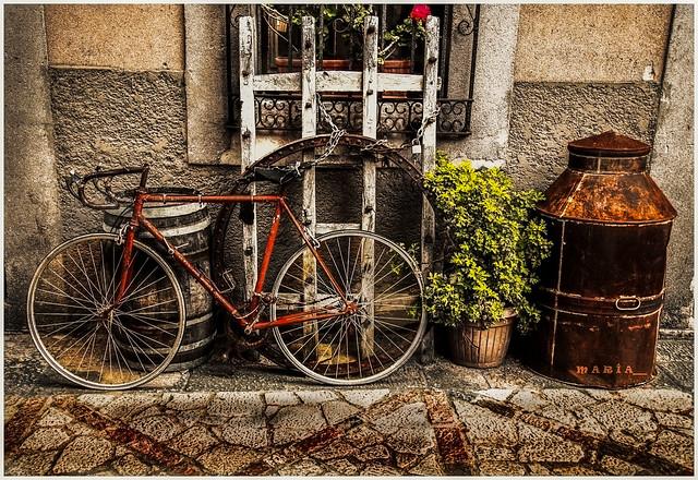 La bicicleta.