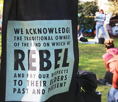 We acknowledge the traditional owners of the land on which we rebel - #XRMelbourne - IMG_5590