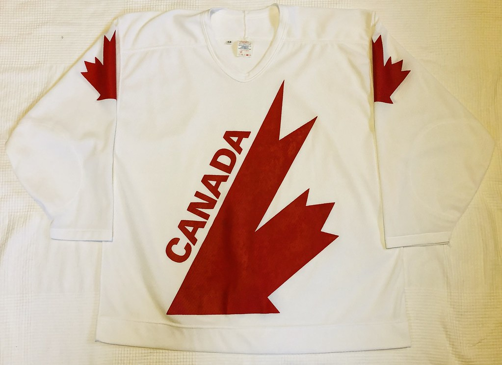 1991 Canada Cup Team Canada White Jersey Front