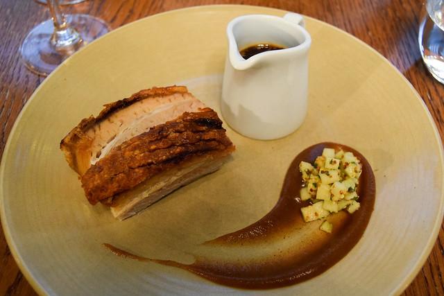Crispy Pork belly with Apple Sauce at Bread Street Kitchen, London