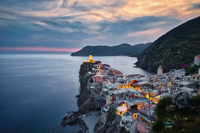 Vernazza and lights