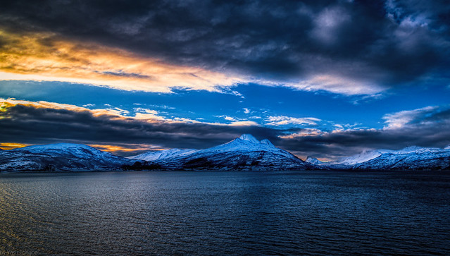 Sunrise over Ofotfjord near Narvik, Norway-6a