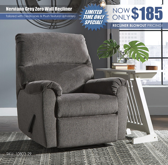 Nerviano Grey Zero Wall Recliner_10803-29