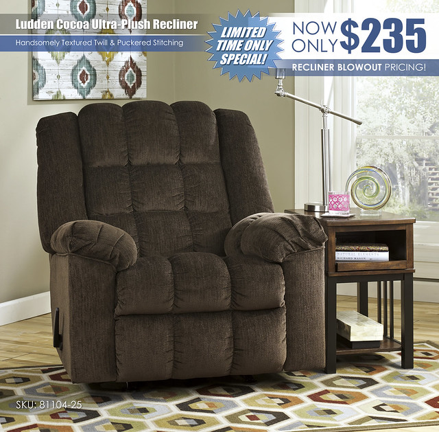 Ludden Cocoa Ultra Plush Recliner_81104-25