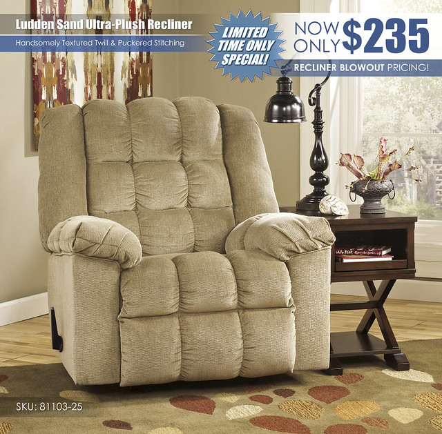 Ludden Sand Ultra Plush Recliner_81103-25