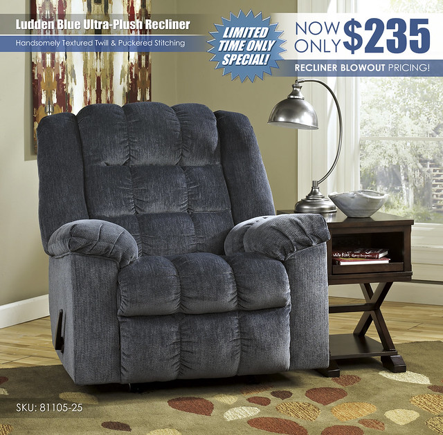 Ludden Blue Ultra Plush Recliner_81105-25
