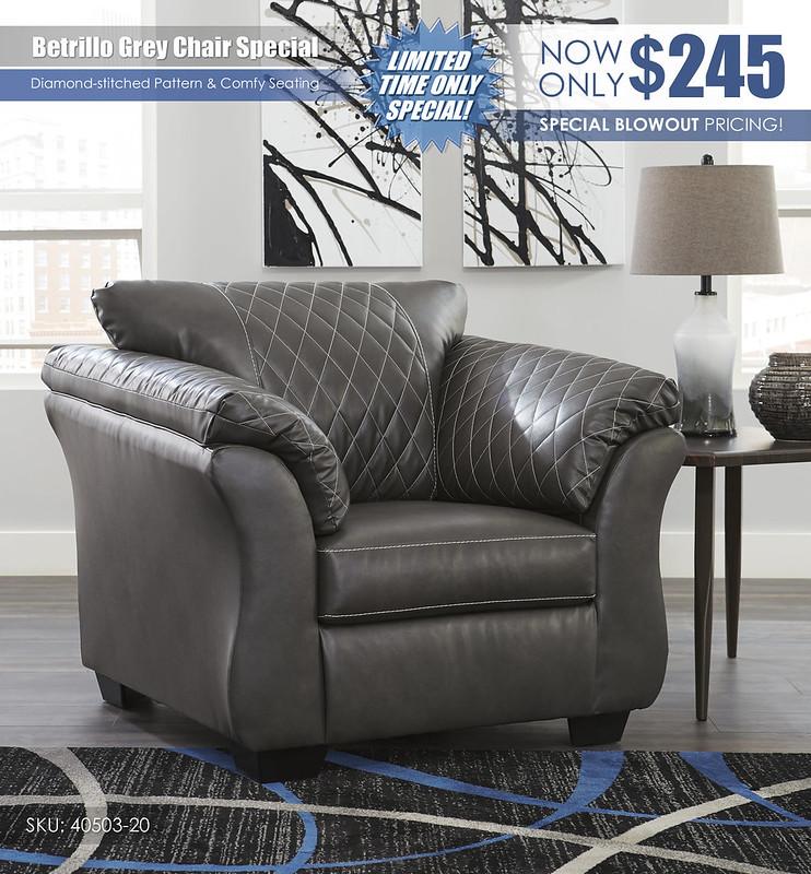 Betrillo Grey Chair_40503-20