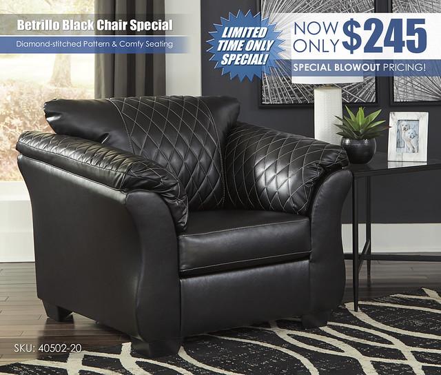 Betrillo Black Chair_40502-20