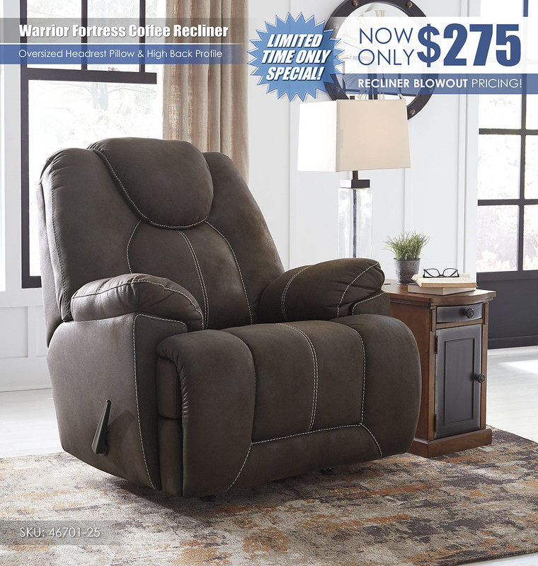 Warrior Fortress Coffee Recliner_46701-25
