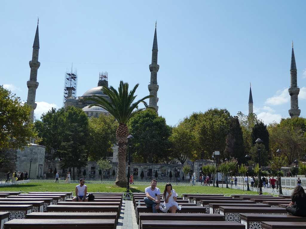 Sultanahmet Square, the terminus for one of the airport shuttle bus routes