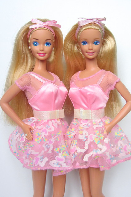 My first Tea Party Barbie 1996 Indonesia&China COMPARISON