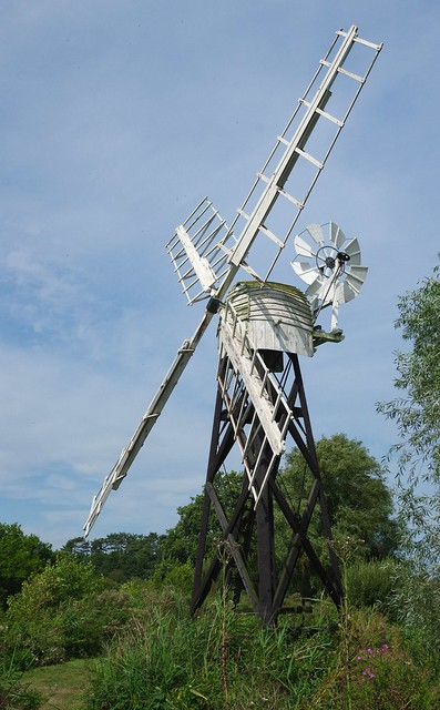 Wind pump at How Hill Norfolk