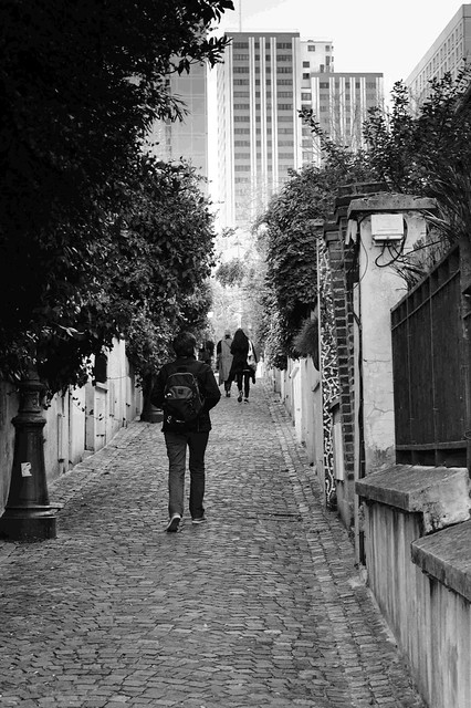 Paris, Belleville, B&W, 15