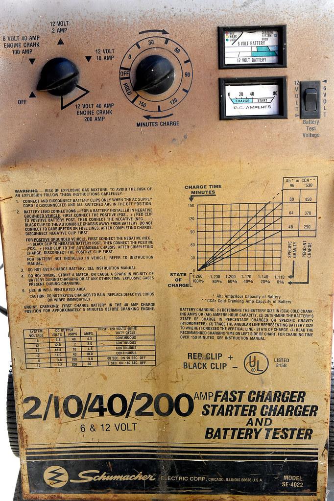 Help Me Fix My Battery Charger  Schumacher Se