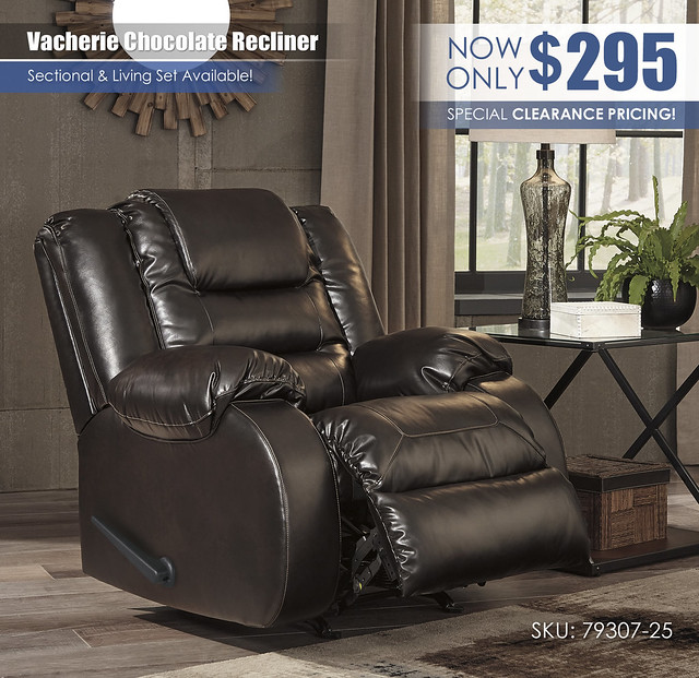 Vacherie Chocolate Recliner_79307-25-OPEN