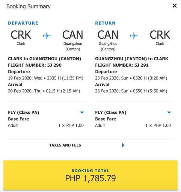 Cebu Pacific Promo - Clark to Guangzhou