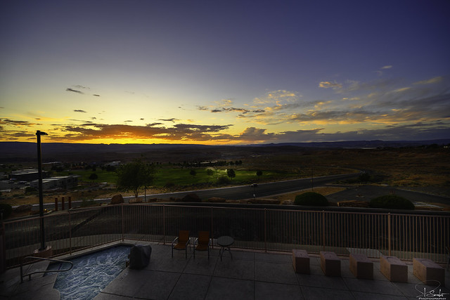 Evening view from Best Western View of Lake Powell Hotel - Page - Arizona - USA