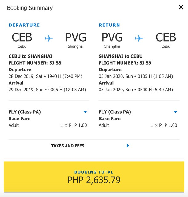 Cebu Pacific Promo - Cebu to Shanghai