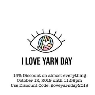 I Love Yarn Day 2019