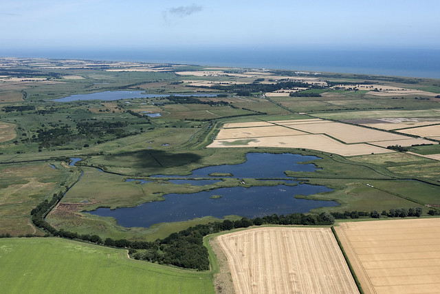 Martham Broad with Horsey Mere in the background - Norfolk aerial image