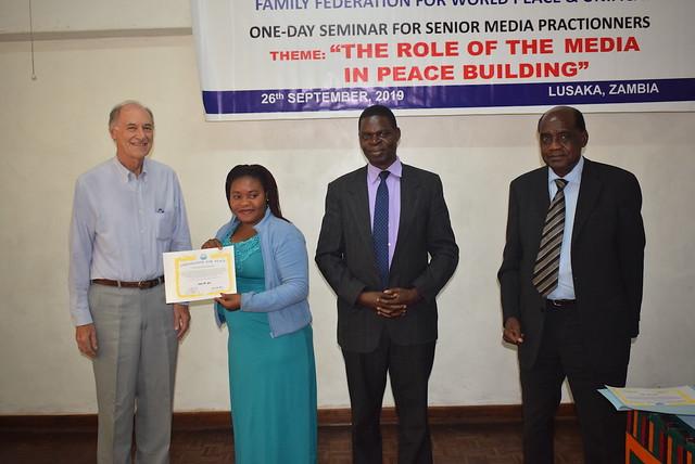 Zambia-2019-09-26-UPF-Zambia Holds Peace-Building Seminar for Media Professionals