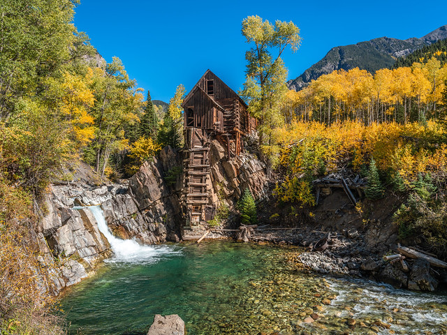 Crystal Mill Cabin Colorado Fall Foliage Fuji GFX 100 Autumn Colors Fine Art Landscape & Nature Photography! Elliot McGucken Fuji GFX100 &  Fujifilm Fujinon GF 32-64mm F/4 R LM WR G Mount Lens!  Master Fine Art Landscape Photography!