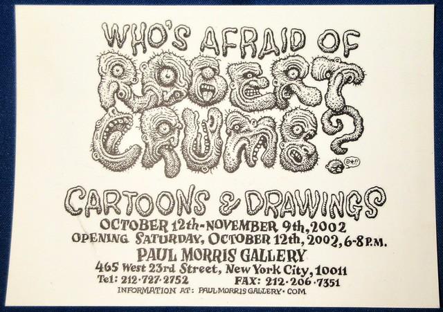 2002 Who's Afraid of Robert Crumb - Paul Morris Gallery NYC 5358