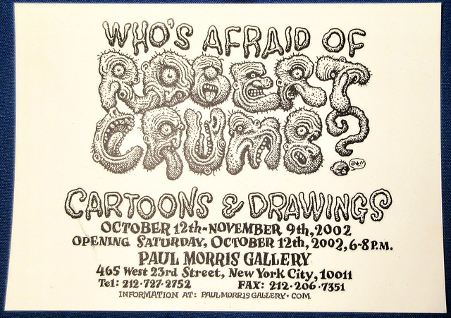 2002 Who's Afraid of Robert Crumb - Paul Morris Gallery NYC 5359