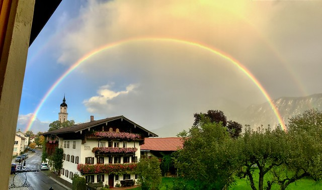 Rainbow over Kiefersfelden, Bavaria, Germany
