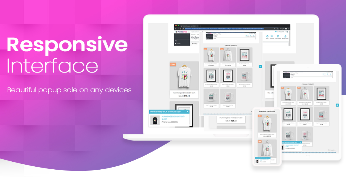 leo popup sale free prestashop module - responsive interface