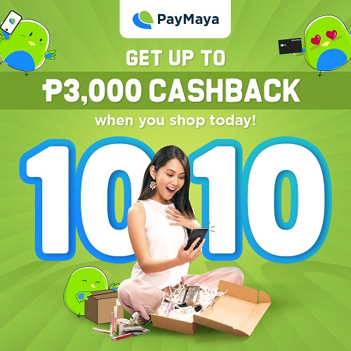 PayMaya 10.10 Weekend Promos