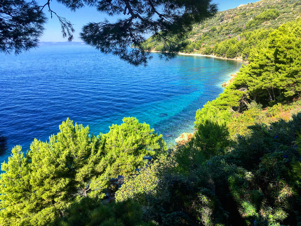 View over the coast of the Makarska reviera