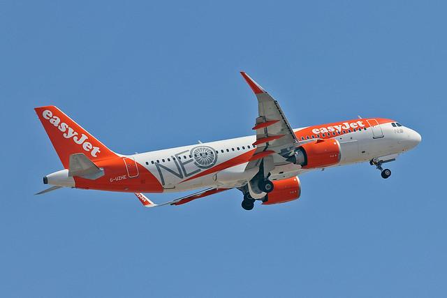 G-UZHE Airbus A.320-251N easyJet NEO CS AGP 31-08-19