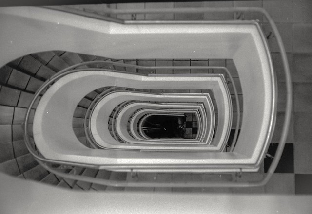 Analog photo: circular Staircase