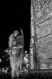 Knife angel at night