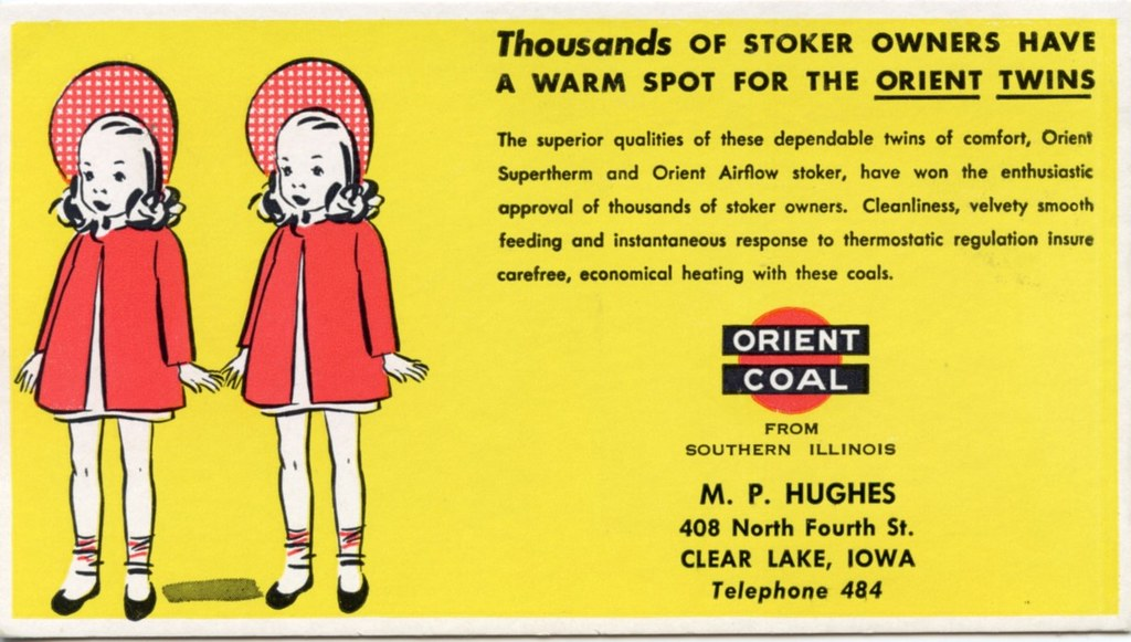 Orient Coal Co Blotter Twins