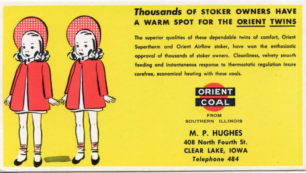 Orient Coal Co Blotter Twins
