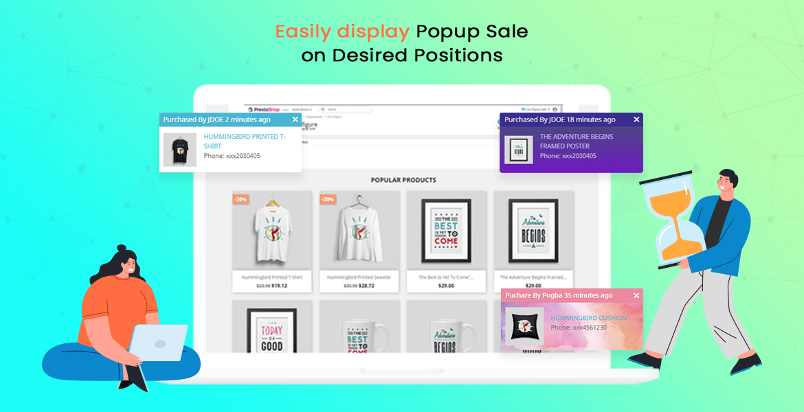 leo popup sale free prestashop module - set popup notification positions