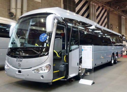'Coach & Bus UK19'. Irizar demonstrator. Irizar i4 on Dennis Basford's railsroadsrunways.blogspot.co.uk'