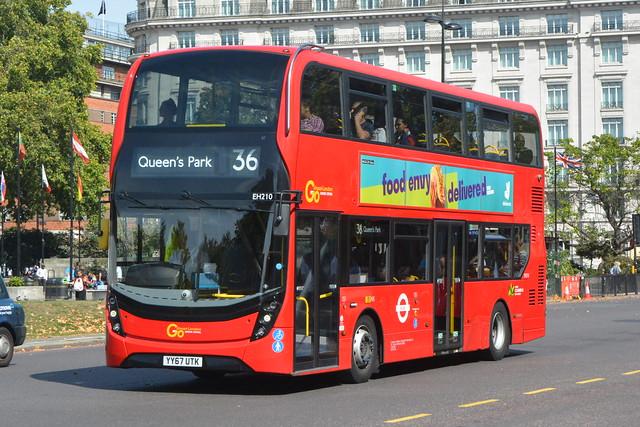 YY67 UTK (EH210) Go-Ahead London Central