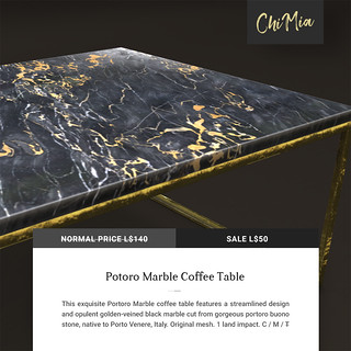 The Saturday Sale 12 October 2019: Portoro Marble Coffee Table by ChiMia