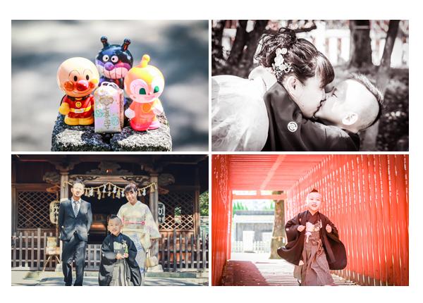 深川神社(愛知県瀬戸市)で七五三のロケーション撮影 家族の写真