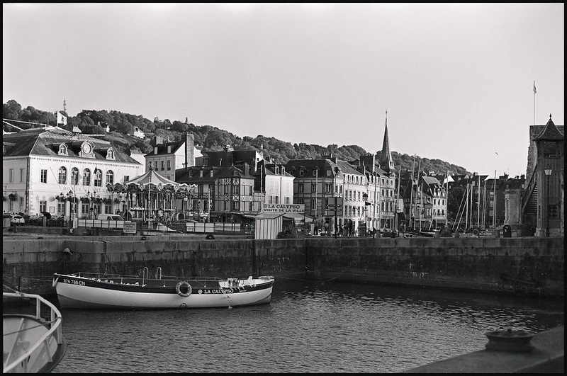 Honfleur black and white photo