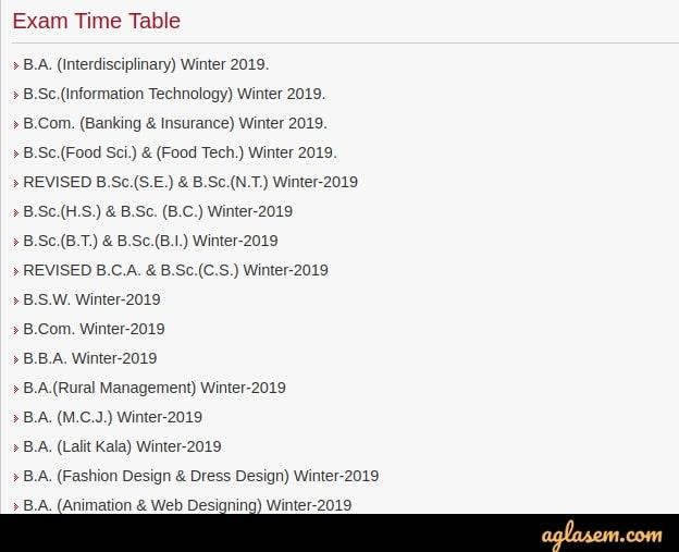 SRTMUN-Time-Table-Aglasem