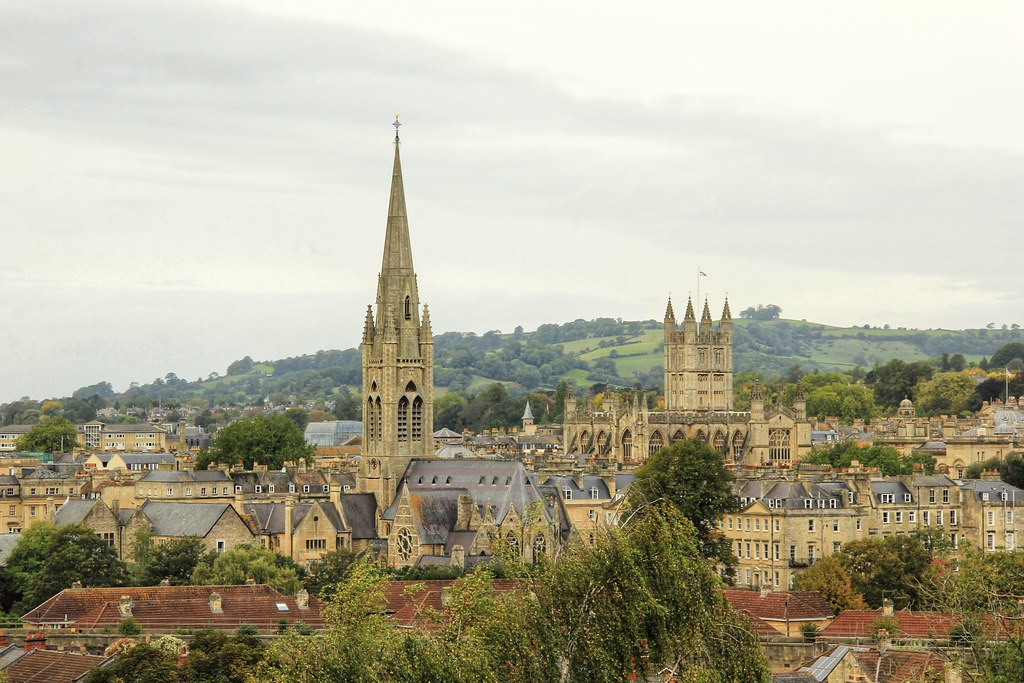 Beautiful views of Bath from Abbey View Gardens